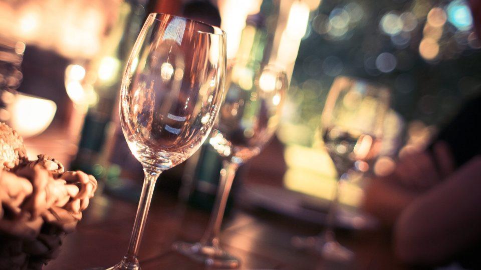 Wine glass evening