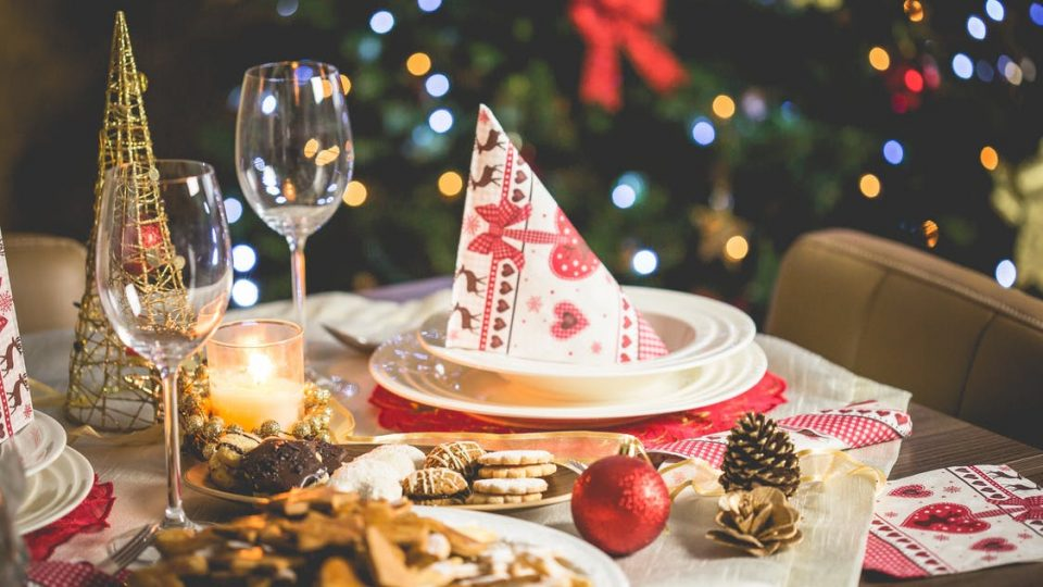 christmas treats on table